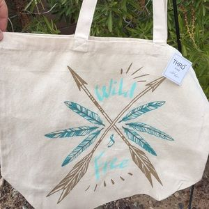 Wild and Free cloth tote bag
